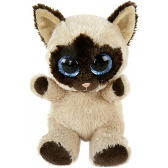 Pluche siamese kat naila. leuke siamese kat knuffel met grote schattige ogen. de knuffel is ongeveer 14,5 cm ...