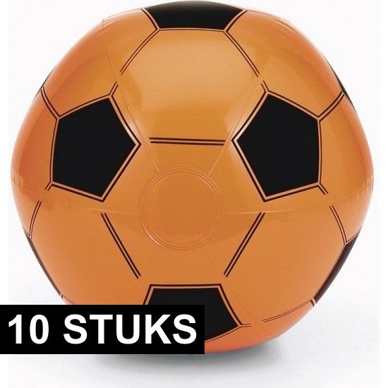 10x EK/WK voetbal strandbal oranje