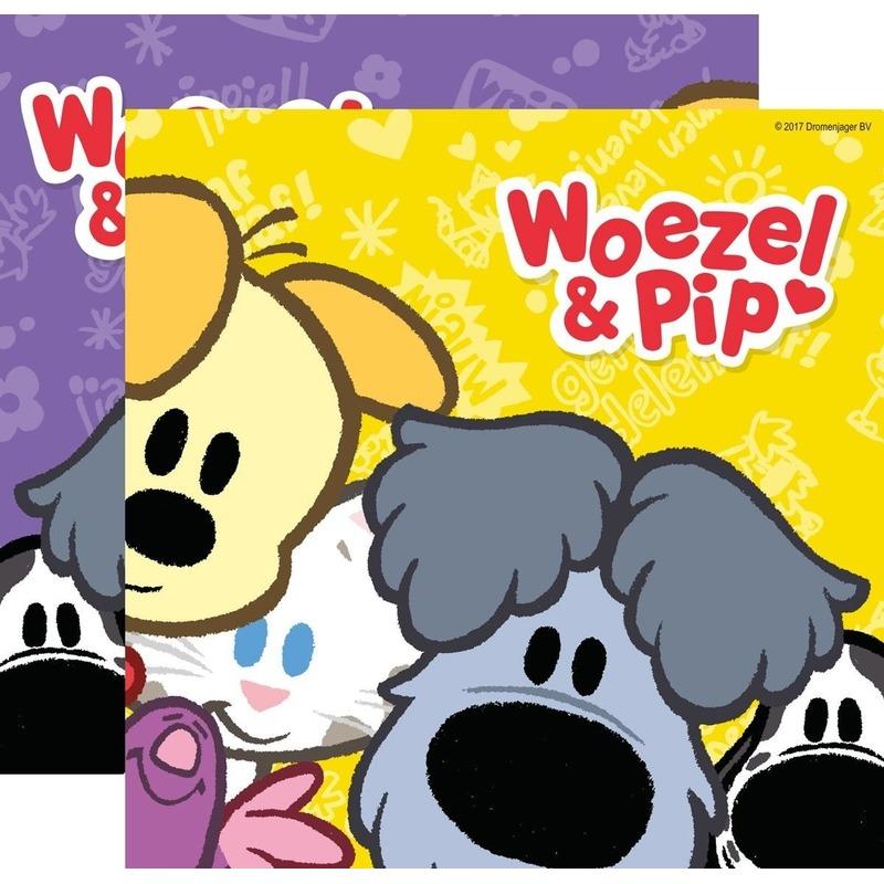 20x Woezel & Pip themafeest servetten 33 x 33 cm papier