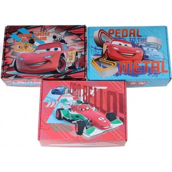 3x Disney Cars opbergboxen/opbergdozen van karton 2 L