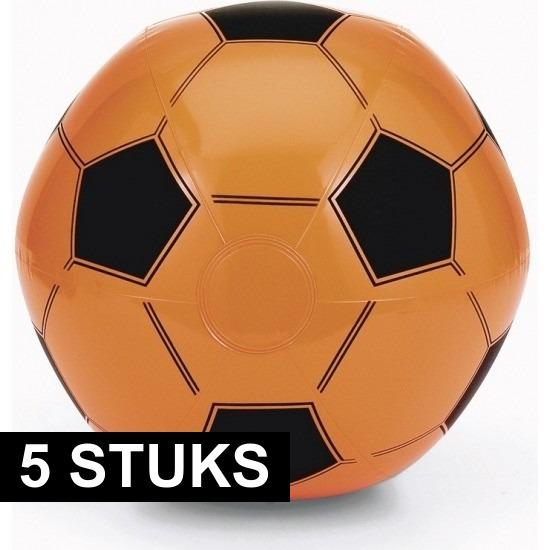 5x EK/WK voetbal strandbal oranje