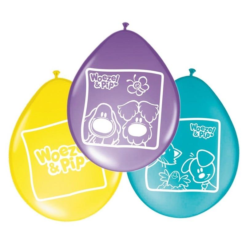 8x Woezel en Pip themafeest ballonnen 27 cm