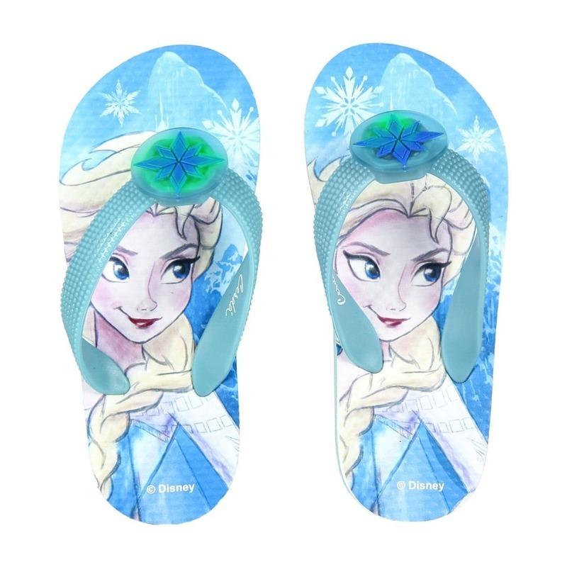 Blauwe Disney Frozen Elsa badslippers/teenslippers voor meisjes