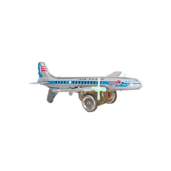 Blikken vliegtuigje 18 cm
