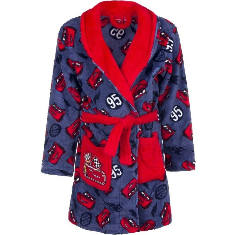 Cars fleece kamerjas rood/blauw voor kids