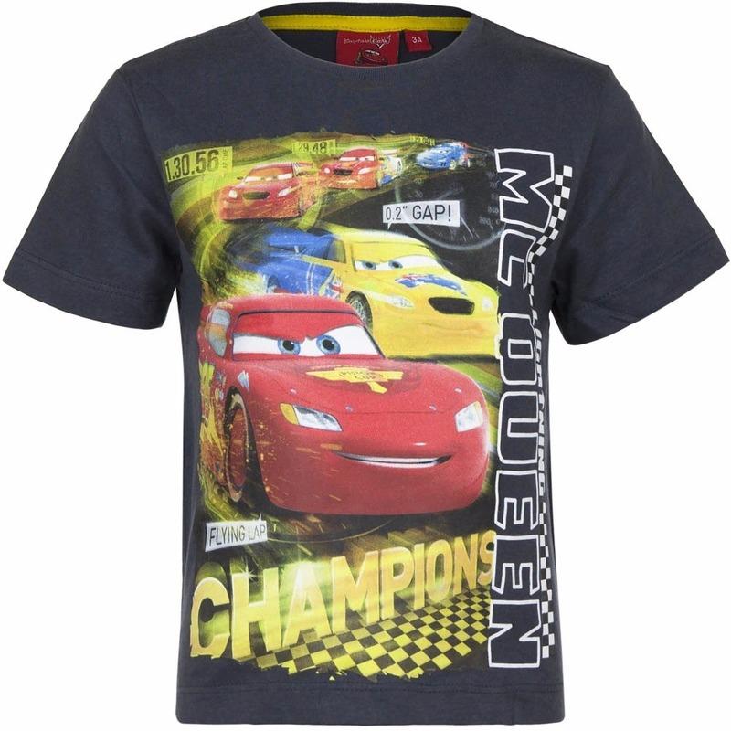Cars t-shirt grijs voor jongens