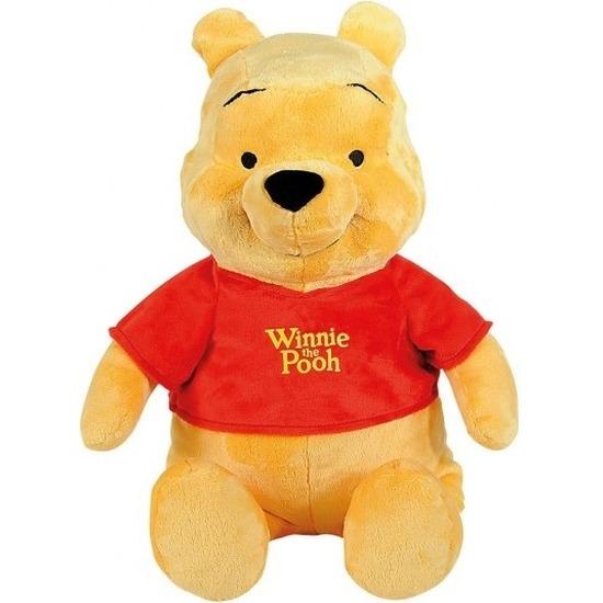 Cartoon knuffels Disney Winnie de Poeh beer geel 34 cm