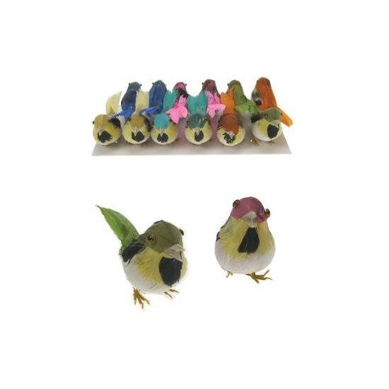 Feestartikelen diversen Geen Decoratie vogeltje 1 stuk