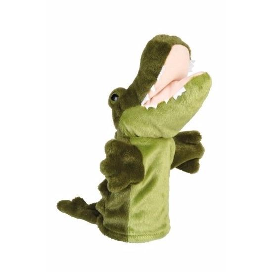 Handpoppen CartoonPartner Dieren handpop krokodil pluche 24 cm
