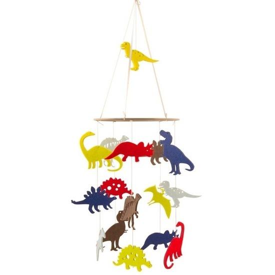 Dino thema baby mobiel/boxmobiel 55 cm kinderkamer decoratie