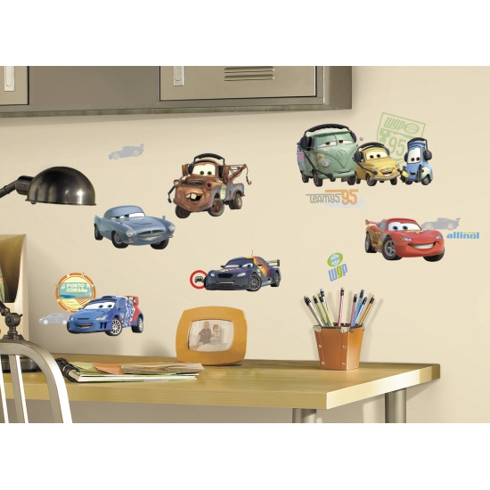 Feestartikelen diversen Disney wandstickers Cars