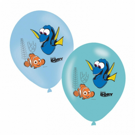 Finding Dory ballonnen gekleurd 6 stuks