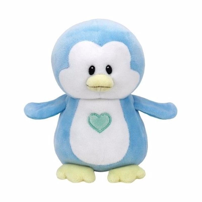 Geboorte jongetje knuffel Ty Baby pinguin Twinkles 17 cm