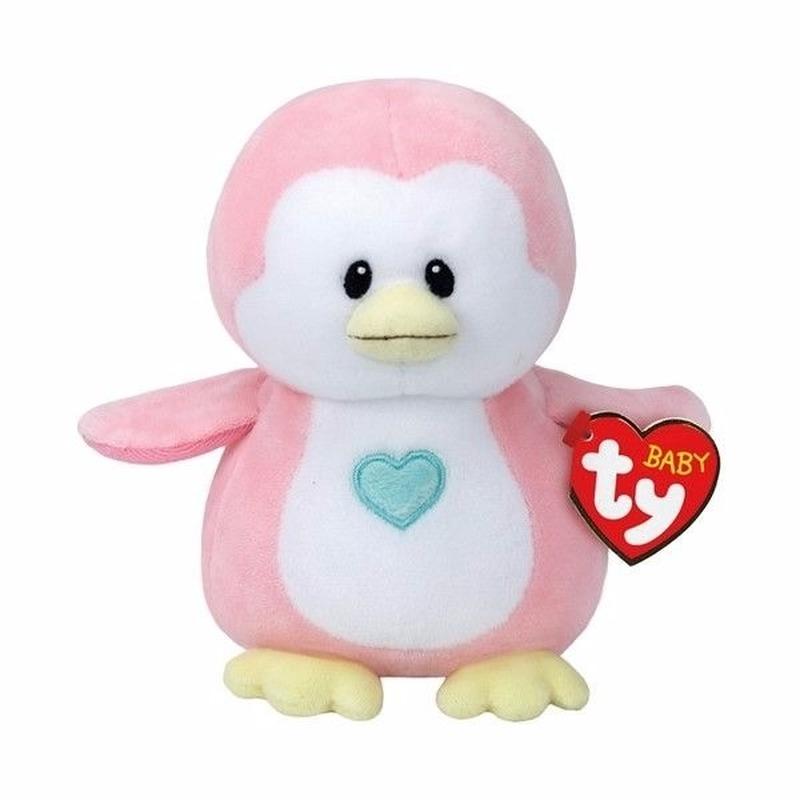 Dieren knuffels Geboorte meisje knuffel Ty Baby pinguin Penny 17 cm