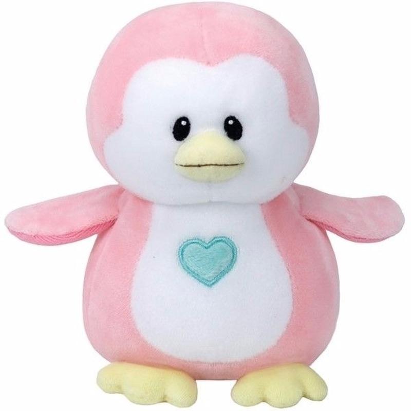 Geboorte meisje knuffel Ty Baby pinguin Penny 24 cm Ty Beanie Dieren knuffels