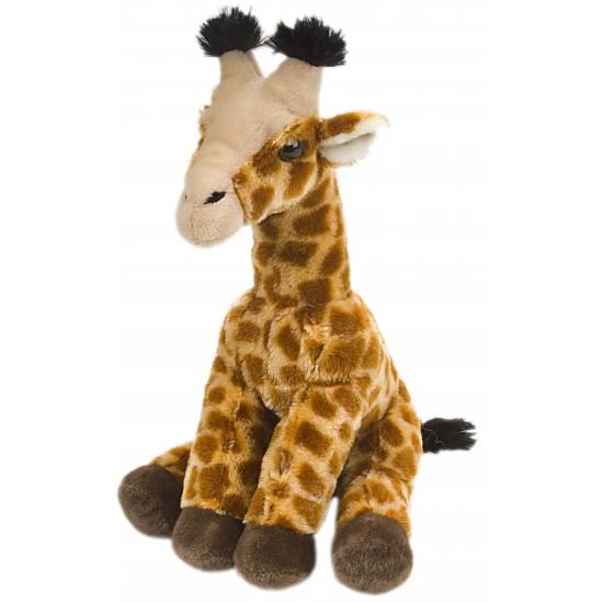 Dieren knuffels Giraffe knuffel met kraalogen 30 cm