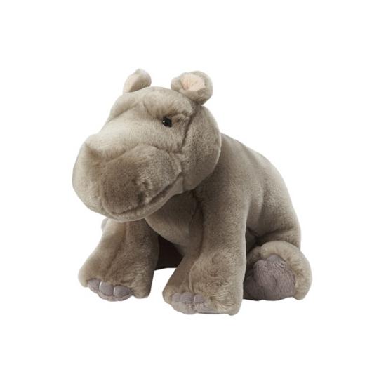 Dieren knuffels Grijze nijlpaard knuffels 18 cm