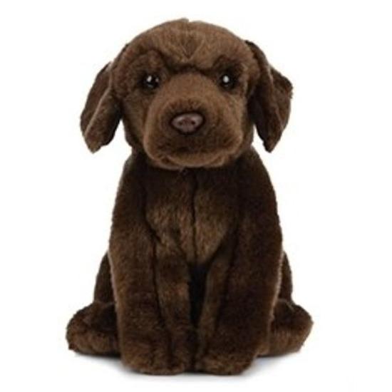 Huisdier Labrador hond knuffels bruin 25 cm