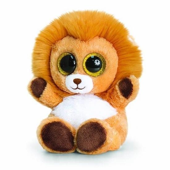Dieren knuffels Keel Toys Keel Toys pluche leeuw knuffel 15 cm