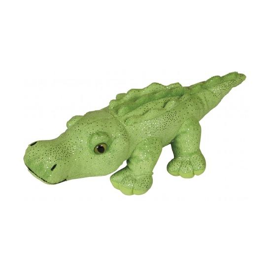Dieren knuffels CartoonPartner Knuffel krokodil met glitters 30 cm