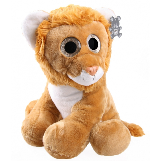 Knuffel leeuw met glitter ogen 40 cm CartoonPartner beste prijs