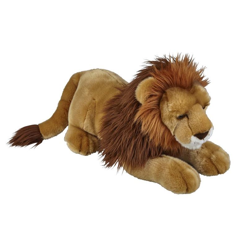 Knuffelbeesten liggende leeuw 50 cm CartoonPartner Geweldig