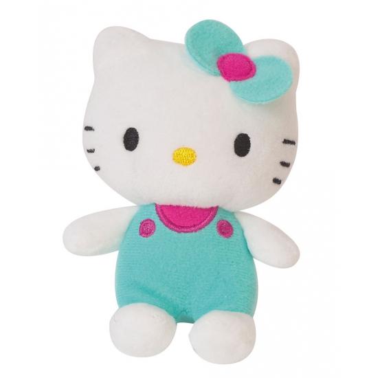 Knuffeldier Hello Kitty groen 12 cm