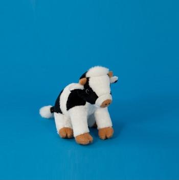 Koe knuffeltje 15 cm Dowman Soft Toys Dieren knuffels