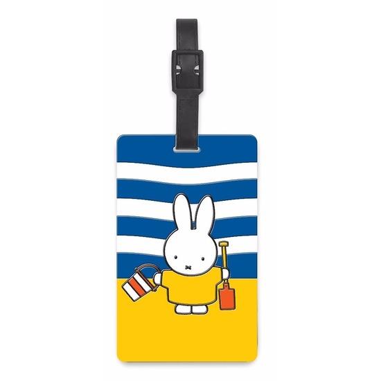 Kofferlabel Nijntje op het strand 10,5 cm