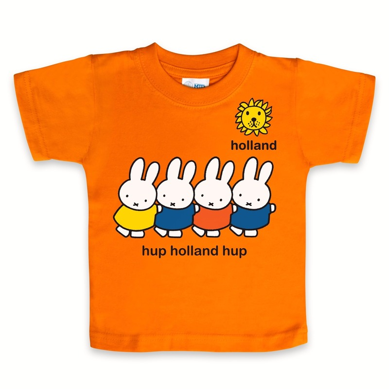 Kraamkado shirt Nijntje oranje