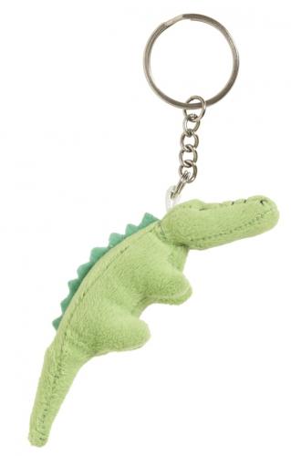 Pluche sleutelhangers Krokodil sleutelhangertje 6 cm