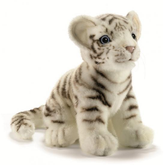 Hansa Levensechte pluche tijger wit 18 cm Dieren knuffels