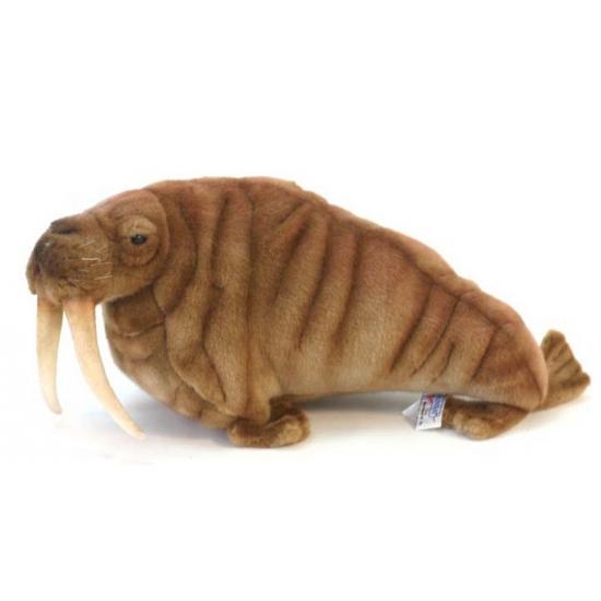 Hansa Luxe pluche walrus 38 cm Dieren knuffels