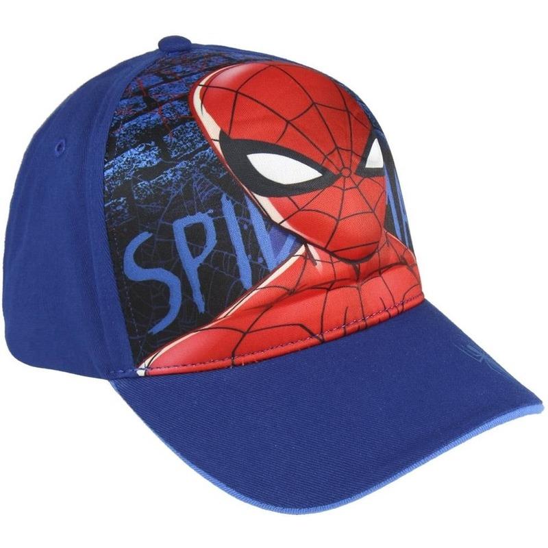 Marvel Spiderman 3D pet/cap blauw voor jongens