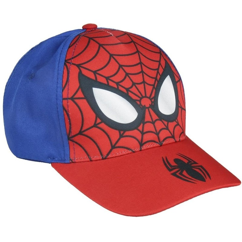 Marvel Spiderman pet/cap rood/blauw voor jongens