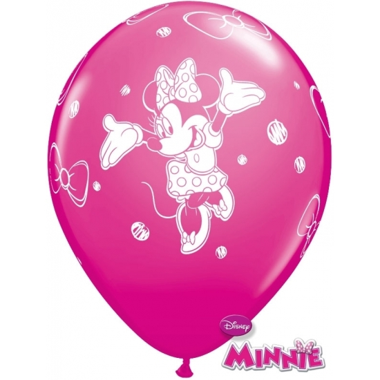Disney Minnie Mouse kinderfeestje ballonnen 6x Kinderfeestjes