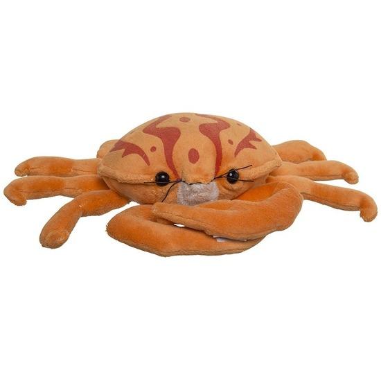 Oranje knuffel krab 25 cm