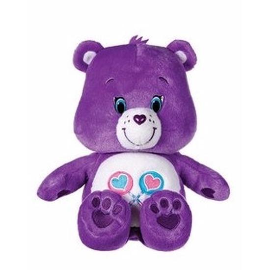 Paarse Care Bears knuffel 22 cm