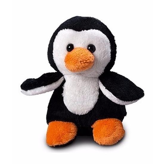 Pinguin knuffeltje 12 cm met label voor boodschap Schmoozies Het leukste