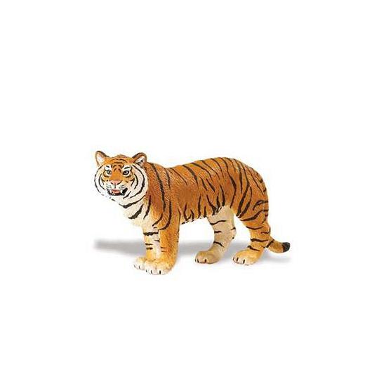 Plastic Bengaalse tijgerin bruin speelfiguur 14 cm CartoonPartner Speelfiguren sets