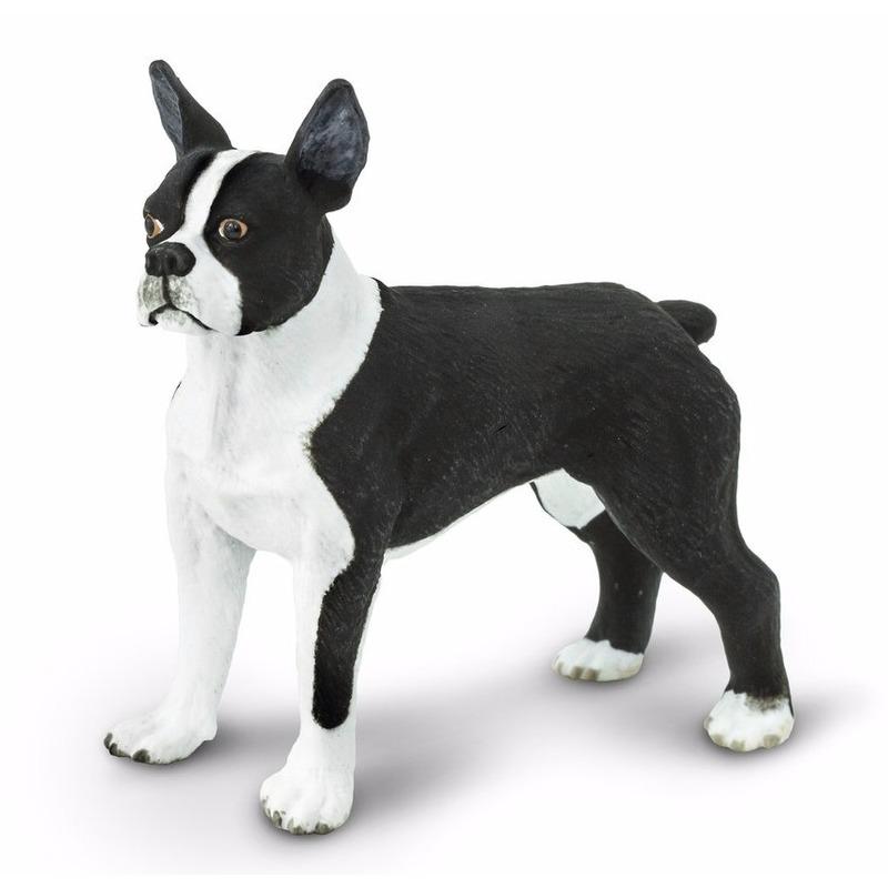 Plastic Bostonterrier hond 5 cm Safari LTD te koop