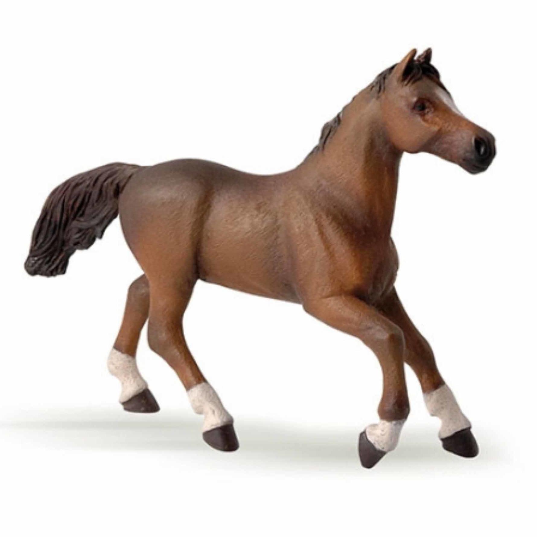 Speelfiguren sets Plastic bruin Arabieren paard 15,5 cm