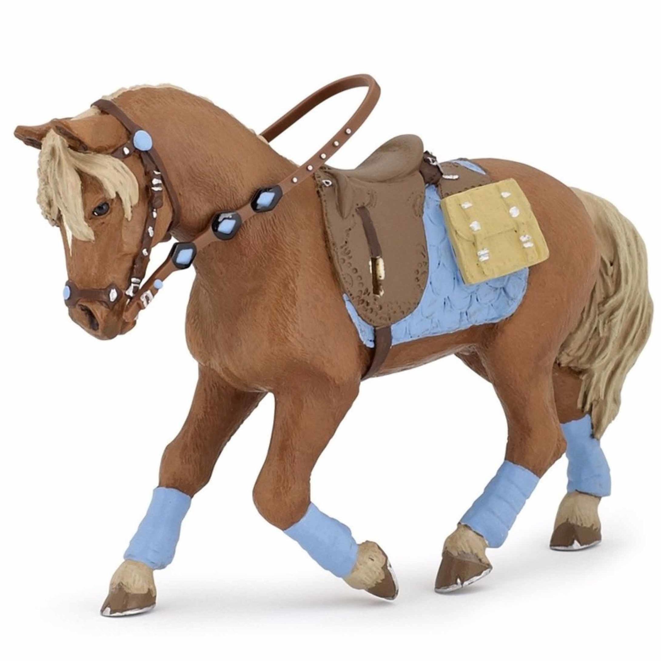 Speelfiguren sets Plastic jonge ruiter paard 12 cm