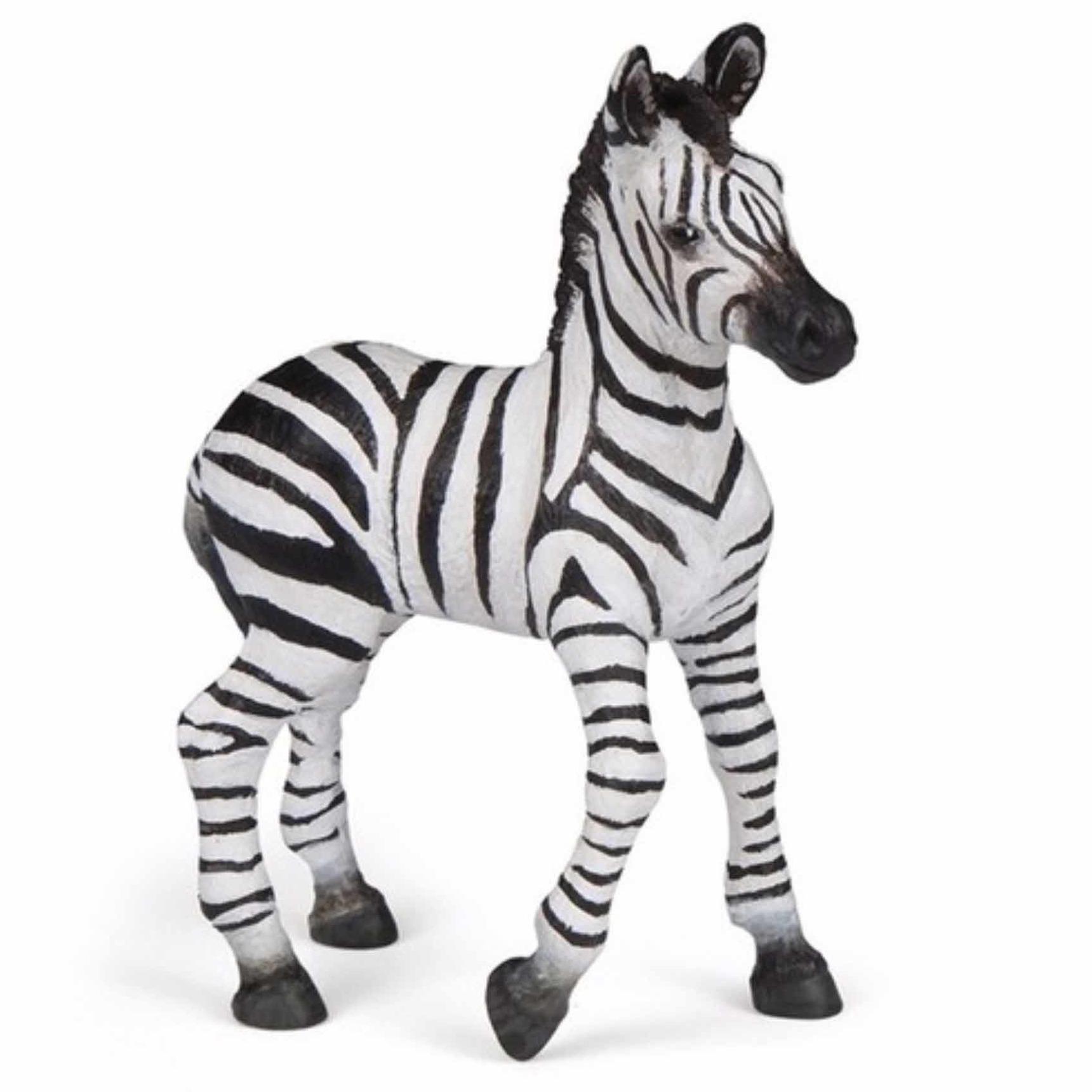 Plastic speelgoed figuur baby zebra 9 cm