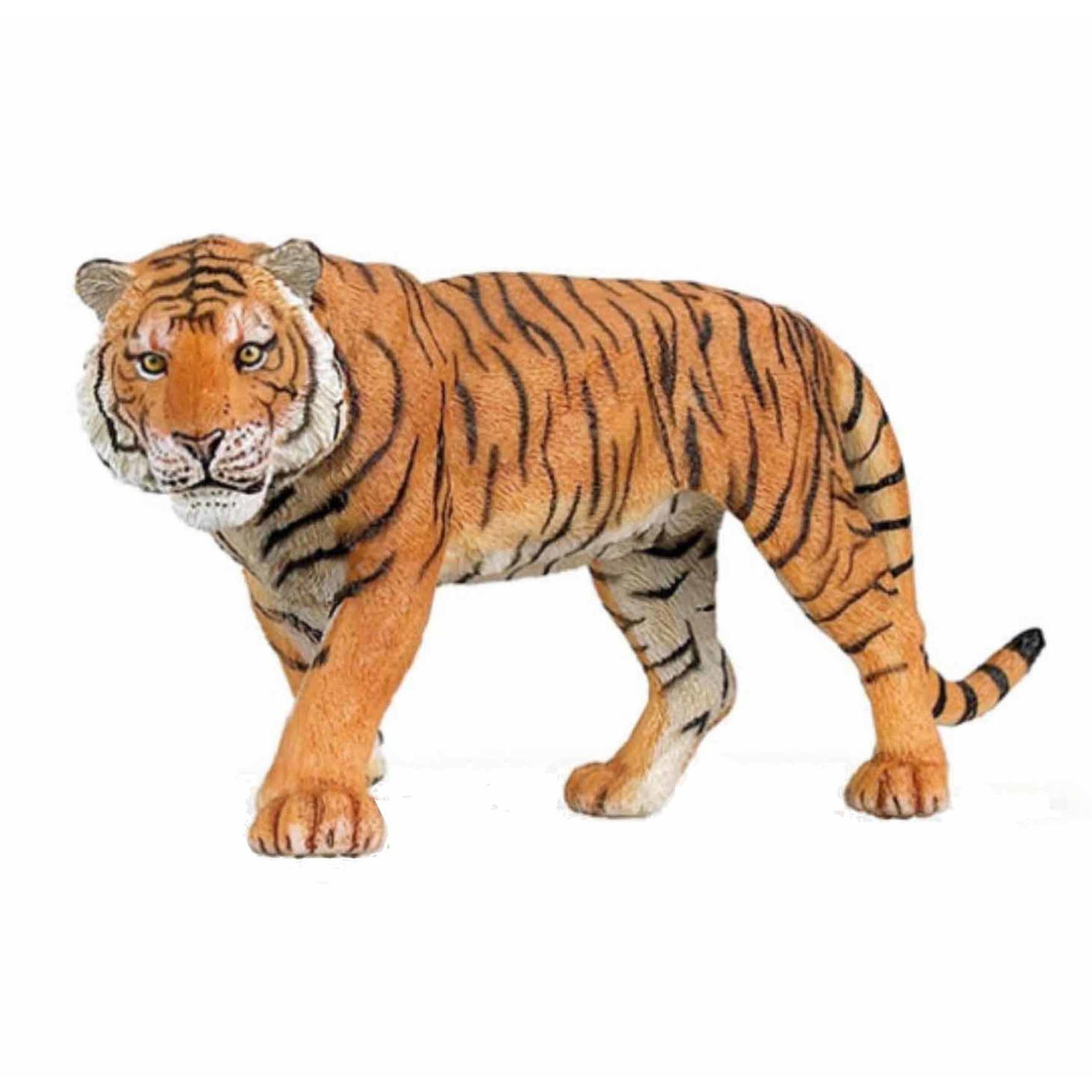 Speelfiguren sets Papo Plastic tijger 15 cm