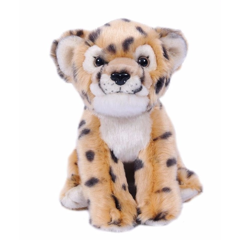 Geen Pluche cheetah knuffel 20 cm Dieren knuffels