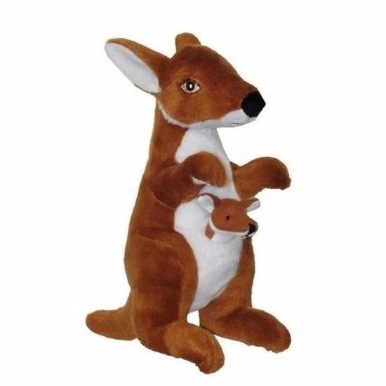 Pluche kangoeroe knuffels 28 cm