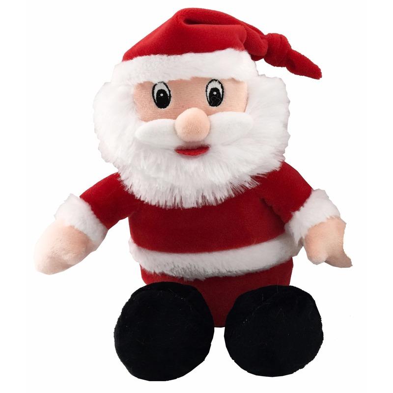 Kerst feestartikelen Geen Pluche Kerstman knuffel 26 cm