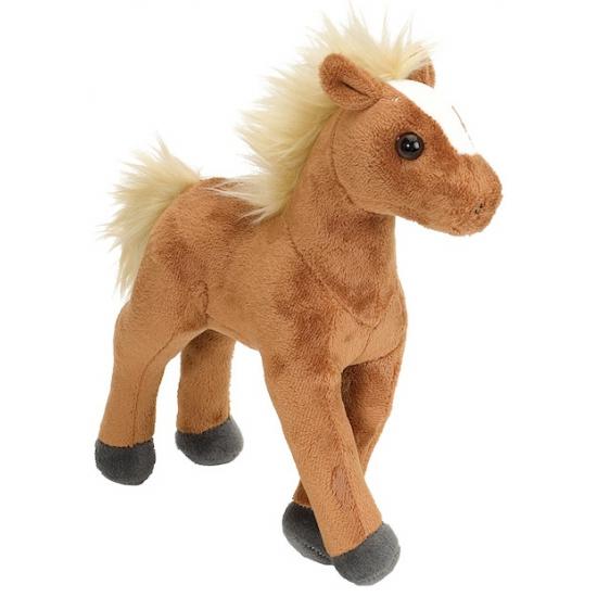 Pluche knuffel knuffeltje bruin paard 20 cm