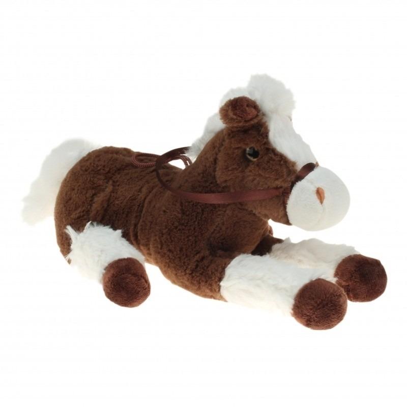 70f8173c90afdc Pluche knuffel paard bruin/wit 60 cm | Paarden knuffels artikelen